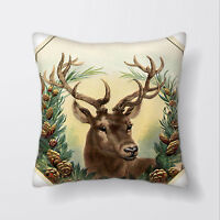 Stag Deer Cushion Covers Pillow Cases Home Decor or Inner