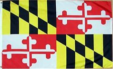 3 X 5 POLYESTER MARYLAND FLAG POLY W / Grommets Indoor Outdoor