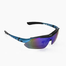 Walleva Blue Polarized TR90 Sunglasses With Hat Clip+Prescription Lenses Insert