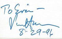 Senator Paul Simon Signed 3x5 Index Card B