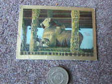 PAN HANDLE  SCRAP  Sights & Scenes TANJORE Temple India Tobacco Card 1911-12
