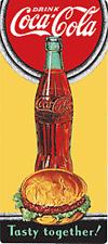 Coca Cola / Burger Tasty Together embossed metal fridge magnet (ar)
