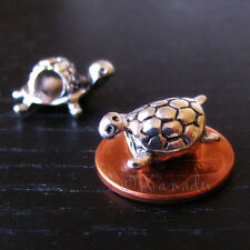 2PCs Large Hole Swing Turtles Charm Beads For All European Style Charm Bracelets
