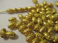 100 Gold Plated 6x4mm Star Dust Gold Plated Nice Beads WOW  POP  LSB