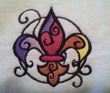 Fleur De Lis And France Set Of 2 Bath Hand Towels Embroidered By Laura