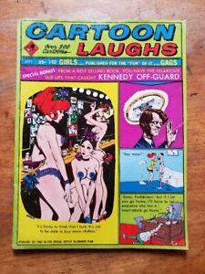 Cartoon Laughs, Atlas Mag. 1968, Over 200 Cartoon Gags, Vol.7 No.4 KENNEDY COVER