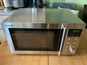 Sharp R-28STM / R28STM Solo 23 Litre capacity Microwave 800W Stainless Steel