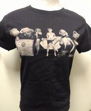 Vintage  Marilyn Monroe Ladies Crew Neck Short Sleeve Black Sepia Tone T-Shirt