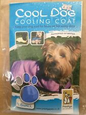 BNIP PRESTIGE PETS Cool Dog COOLING COAT size X SMALL (28cm) BLUE ice jacket NEW