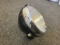 "Lucas 8"" DU42 Headlight Headlamp No Panel Plate Taxi Mini Bsa triumph Norton Ajs"