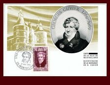 1969//FDC CARTE 1er JOUR!!GEORGES.CUVIER-HORS COMMERCE N°124*TIMBRE.1595