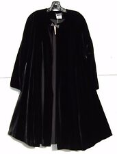 "NWT Eskandar BLACK Velvet Medium Weight Persian 40"" Long A-line Coat (0) $3350"