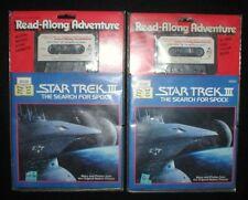 (2) Star Trek Iii The Search For Spock~Read-Along Adventure~Cassette w/Book~New