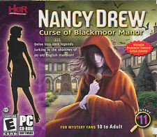 Nancy Drew #11 CURSE OF BLACKMOOR MANOR - Mystery PC Game for Windows XP/Vista/7