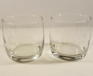 """Chivas Regal Aged-12-Years Glasses With Etched Logo. 3.5"""" Tall. Set Of 2."""