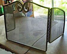 Ancienne Grille de Cheminée Triptyque Acier 120 x 50 cm Vintage 1960