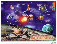 A LITTLE STEP Spacecraft (Apollo XI/Satellites) Space Stamp Sheet (2000 Bhutan)