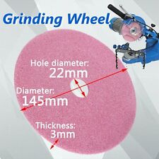 145x3mm Grinding Wheel Disc for Chainsaw Sharpener Grinder 3/8lp & .325 Chain