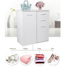 White Modern 4 Drawer Cabinet Bathroom Storage Unit Chest Cupboard Furniture UK