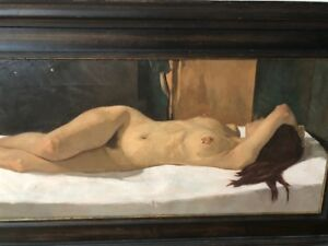 """Neale Worley British Born 1962- Painting """"Nude"""" dated and signed 1998"""