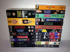 21 Science Fiction Vhs Video Tapes Sci-Fi Lot Dr. Who Ewoks Predator Star Trek +