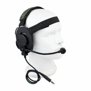 Z Tactical Bowman Elite II Earpiece Headset Airsoft Mic Radio Boom HD-03