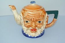 Vintage Toby style Ceramic Teapot ~ Old Man's Head ~ Mint Condition
