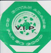 Bryan Adams So Far So Good Tour 1994 Vip Satin Silk Cloth Sticky Backstage Pass