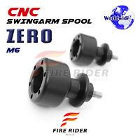 ZERO 6mm Swingarm Crash Protecion Spools For Yamaha YZF R1 S R1M 15-16 15 16