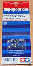 Tamiya 53024 4mm Aluminum Flange Lock Nut (Top Force Evolution/Wheel Nuts), NIP
