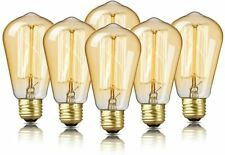 6 Pack Edison Bulbs 60W Edison Light Bulb Antique Vintage Light Bulbs  DecorStar