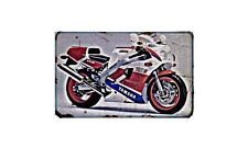 Fzr750R Owo1 Motorbike Sign Metal Retro Aged Aluminium Bike
