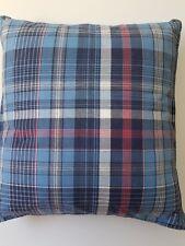 "Nautica Vintage Plaid 16"" Decorative Pillow Blue/White/Red"