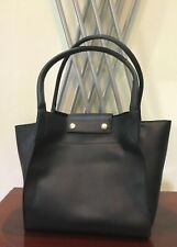 Fashion Hand Shoulder School Office Bag, 2 Pcs Faux Leather Large Capacity Blk