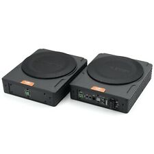 Cadence Qsa-Pr88 720W Under Seat Subwoofer Enclosures w/ Built-In Amplifier Pair