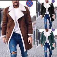 Manteau chaud en laine pour homme Trench d'hiver chaud à manches longues