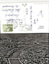 495389,Basel Totale Fliegeraufnahme Mustermesse 1953 Stempel