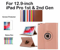For Apple 12.9-inch iPad Pro(1st & 2nd Gen )Rotate PU Leather Smart Case Cover