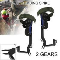 Tree Climbing Spike Set Safety Adjustable Belt Lanyard Rope Rescue Belt 2 Gears
