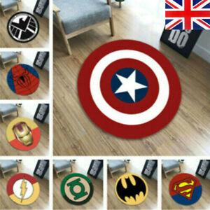 Superhero Carpet Non Slip Mat Floor Rug Avengers Bedroom Doormat Chair indoor