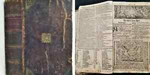 1748 antique GERMAN BIBLE leather martin luther old new testament apocrypha 14.5