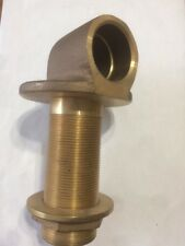 """1 1/2"""" X 4 1/2"""" Solid BRASS WATER inlet Made In Canada Hall & Stavert PEI Heavy"""
