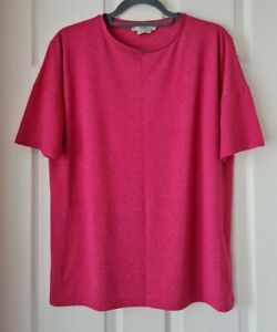 Mango Ladies Pink Short Sleeve T Shirt Size Eur M / 16