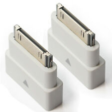 2x White Dock Extender 30 Pin Adapter Male to Female iPod iPhone 4 S iPad 2 3