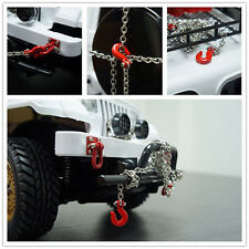 High Quality Metal Trailer Hook & Chain for 1/10 D90 Axial SCX10 RC Rock Crawler