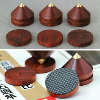 Red Sandalwood Copper Speaker Isolation Stand Feet Foot Base Pad Spike Foot 23mm
