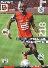 175 CHEIKH M'BENGUE SENEGAL STADE RENNAIS.FC CARD ADRENALYN 2016 PANINI O