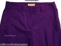 New Womens Marks & Spencer Per Una Purple Trousers Size 16 12 10 Medium Short