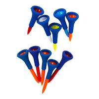 10 Pieces Soft Rubber Cushion Top Golf Tees Random Color Short + Medium