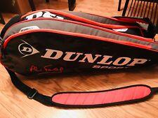 Dunlop Sport Hydropocket Thermal 7 Pocket Tennis Bag Black Red Grey Euc
